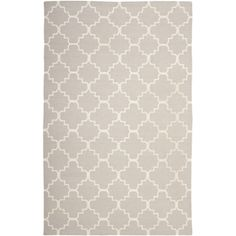 Safavieh Hand-woven Moroccan Dhurrie Grey/ Ivory Wool Rug (11' x 15') | Overstock.com Shopping - The Best Deals on Oversized Rugs