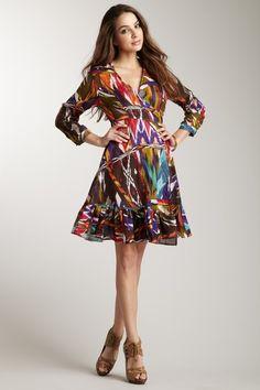Love Token Ethnic Wraparound Dress.  HAUTELOOK.  (Reminds me of Mary Tyler Moore. LOVE IT! :D)