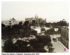1910 Bs. As., Plaza San Martín y Pabellón Argentino