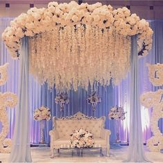 """Indian Wedding Decoration Ideas stage - The center stage becomes the most important area in any marriage. In an Indian wedding, it is called """"Mandap"""". wedding ideas Cozy-Chic Wedding Decoration Ideas to Enchant Your Big Day - Momo Zain Wedding Hall Decorations, Wedding Reception Backdrop, Marriage Decoration, Wedding Mandap, Pakistani Wedding Decor, Engagement Stage Decoration, Reception Stage Decor, Indian Wedding Stage, Indian Wedding Receptions"""
