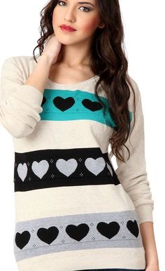 Trending heart wool pullovers best for winters via Valentine Day Special, Casual Sweaters, Buy Prints, Latest Fashion, Pullover, Wool, Printed, Hoodies, Heart