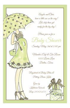 Sassy Momma Green Invitation from Rosanne Beck