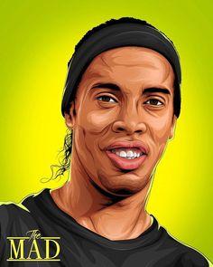 Neymar Football, Football Art, Arsenal Football, Soccer Art, Soccer Poster, Football Player Drawing, Football Players, Illustration Vector, Portrait Illustration