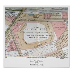 Detail of Fenway Park of from 1938 Atlas Print