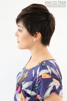 LA: FROM SHAGGY TO CHIC AT RAMIREZ|TRAN SALON. Cut/Style: Anh Co Tran. #ramireztransalon #shorthair #model #besthairinla #besthairinnyc #hair #losangeles #newyork #beautifulhair