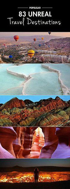 Your dream travel destinations.