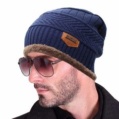 c42a8687ecf Click to Buy    Men s Winter Hat Bonnet Beanies Knitted Winter Hat Caps