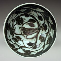 Maxine Hugon's Pottery - Truly one of a kind sgraffito slip carving.