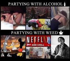 Vs alcoholic pothead Can Cannabis