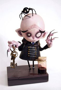 Art Dolls - Sculpture - hand made dolls and characters - ✯ Nosferatu :: By Ramon PLA ✯ Toy Art, Manualidades Halloween, Robots For Kids, 3d Prints, Creepy Dolls, Creepy Cute, Vinyl Toys, Designer Toys, Halloween Art