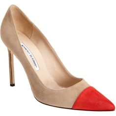 Manolo Blahnik Bipunta Captoe Pumps