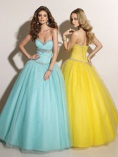 (NO.0242083 )2012 Style Ball-Gown Sweetheart  Beading  Sleeveless Floor-length Tulle  Prom Dress / Evening Dress