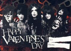 Fan Art of ☆ Happy Valentines Day from BVB for fans of Black Veil Brides. Valentine Day Cards, Happy Valentines Day, Otaku, Emo Teen, Black Veil Brides Andy, Andy Black, Of Mice And Men, Andy Biersack, Metal Bands