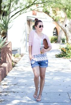 The Perfect Spring Sweater and boyfriend shorts ~ Clothes & Quotes