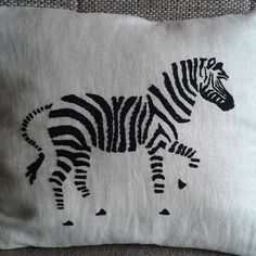 Decorative pillow with handmade embroidery :) #homemade #handmade #decor #pillow #pillows #embroidery #needlework #sewing #art #artist #f4fart #creativity #creative #home #creativeathome #decoration #zebra #stripes #like #thread #homedecor #follow #stitching #decoration #comment #design #athome #fabric #hobby #zebras