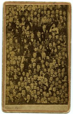 1860 : Photograph of everyone in town, Bloomington, Indiana