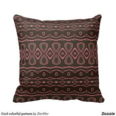 Cool colorful pattern pillow
