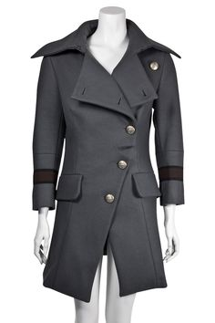 Vivienne Westwood Anglomania Grey Military Coat (similar to this season's Rac coat)