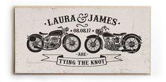 Biker Wedding Invitation Rock & Roll Motor Bikes by STNstationery