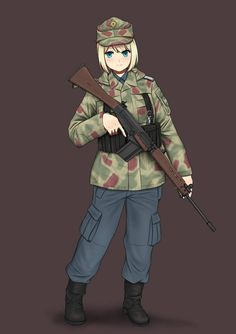 """Ahh Amazing Character and Uniform commission by West Germany Federal Border Guard - """"Bundesgrenzschutz"""" Thank's for all of your support Border Guard (Commission) Anime Military, Military Girl, Comic Pictures, Manga Pictures, Apocalypse Costume, Post Apocalypse, Guerra Anime, Anime Warrior Girl, Border Guard"""