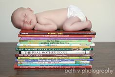 newborn and books