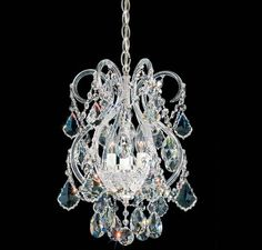 Schonbek Polished Silver Olde World 4 Light Wide Crystal Chandelier with Swarovski Spectra Crystals
