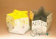 In this video, I'll show you how to make a star-shaped lantern with the punching … - Christmas Decorations Stampin Up Christmas, Christmas Gift Tags, Christmas Diy, Christmas Decorations, Xmas, 3d Paper Crafts, Diy Paper, Diy Candles Video, Light Crafts