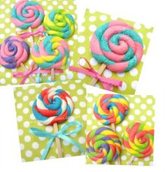 Lollypop Cookie - So colorful - would be fun to make with kids.