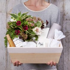 Simone LeBlanc Holiday Home Gift with Flowers from Hollyflora
