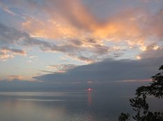 8-15-12 Sunrise over Lake Michigan from Virmond Park in Mequon, WI (#72)