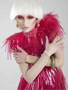 party monster - Rebeca Saray Gude's recent series 'Party Monster' is a stunning exploration of color contrast and sharp couture. New Fashion, Kids Fashion, Ball Makeup, Pastel Punk, Little Red Corvette, Avant Garde Hair, Rave Festival, Festival Wear, Club Kids
