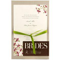 Brides® Cherry Blossom Invitation Kit