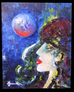 Gipsy at night-Óleo Fernandini-Precio: 1400 dólares | Venta de Pinturas al óleo y acuarela de Patty Fernandini