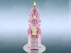 Taufkerze Taufspruch Engel Junge Mädchen Unikat von Lenz  Kerzen auf DaWanda.com