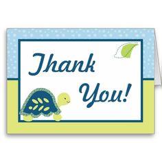 Folded Thank You Card Turtle Reef Ocean Sea Turtle