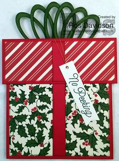 Present card featuring oh what fun stamp set #christmas #present #ohwhatfun #stampinup