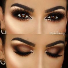 5 Ways To Make Brown Eyes Pop - Brown eyes are totally stunning. These 5 unique makeup tricks using purple and blue eyeliners will make your brown eyes stand out. makeup augen hochzeit ideas tips makeup Almond Eye Makeup, Natural Eye Makeup, Eye Makeup Tips, Makeup Hacks, Makeup Inspo, Eyeshadow Makeup, Makeup Ideas, Eyeshadow Ideas, Eyeshadows