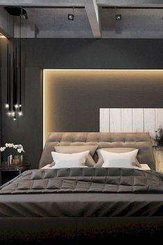new elegant and modern master bedroom design ideas 45 Modern Minimalist Bedroom, Modern Master Bedroom, Modern Bedroom Furniture, Modern Bedroom Design, Trendy Bedroom, Contemporary Bedroom, Modern Room, Modern Contemporary, Furniture Ideas