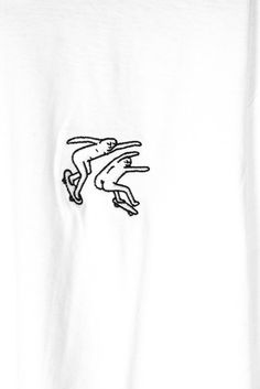 ➫ Leon Karssen - Embroidered Dudes T-Shirt White now instore and online at Bonkers Shop!