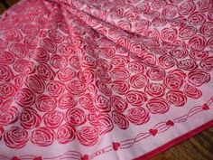 Roses Eros Organic Combed Cotton Baby Wrap by Oscha Slings