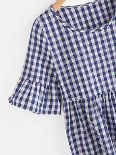 Shop Frill Trim Gingham Blouse online. SheIn offers Frill Trim Gingham Blouse & more to fit your fashionable needs.