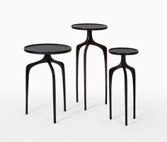 Bridger Cast Bronze Tables    vaholderINdesign.com
