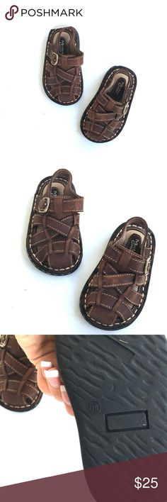 Baby brown fisherman sandals NWOT. Never worn. Little dusty from storage.     •no trades•no offsite transactions•no low balls•offers considered through the offer feature only!•save when you bundle• mother goose  Shoes Sandals & Flip Flops