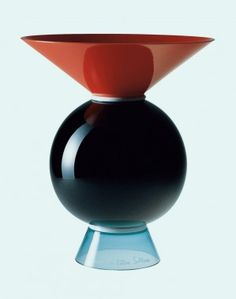 Yemen, Brown Glass Vase, Ettore Sottsass for Venini.