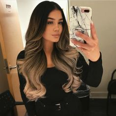 5 Hairstyles That Look Way Better on Dirty Hair - Convenile Brown Hair Balayage, Brown Ombre Hair, Ombre Hair Color, Hair Highlights, Bayalage, Gorgeous Hair, Hair Looks, Pretty Hairstyles, Hair Trends