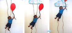 Quandofuoripiove: Un gioco fai-da-te: il bimbo che sfiorò le nuvole