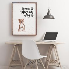 Home Is Where My Dog Is Staffordshire Bull Terrier Print Staffordshire Bull Terrier, Watercolor Print, Dog Breeds, Things To Think About, Colours, Pop, Prints, Etsy, Collection