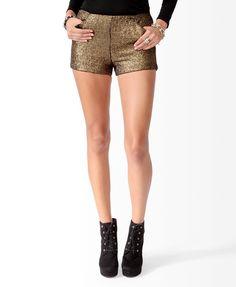 Jacquard Metallic-Blend Shorts #editorslist #glamourmag