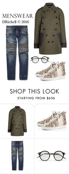 """""""10:23"""" by djrichard ❤ liked on Polyvore featuring Tom Ford, Christian Louboutin, Balmain, Thom Browne, men's fashion and menswear"""
