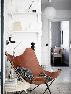 Butterfly chair | Scandinavian interiors | by design co. A cosy spot to sit and relax with a throw blanket.